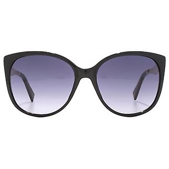 Marc Jacobs Metal Temple Cateye Sunglasses In Black
