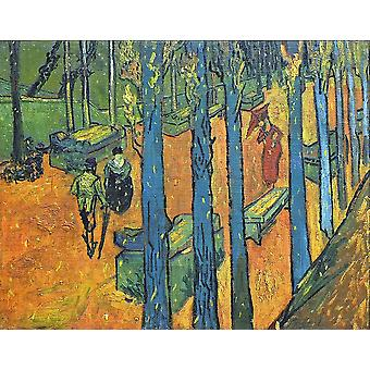 Vincent Van Gogh - Les Alyscamps, 1888 02 Poster Print Giclee