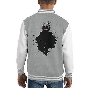 Kaneki verf Splatter Tokyo Ghoul Kid's Varsity Jacket