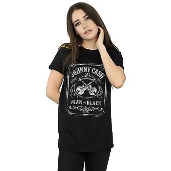 Johnny Cash kvinder mand i sort etiket kæreste Fit T-Shirt