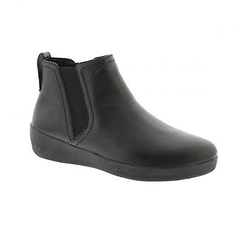 FitFlop FitFlop Womens Superchelsea Boot - Black Leather Boots