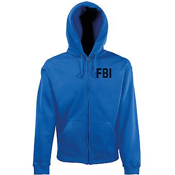 FBI Federal Bureau utredning Text broderad Logo - zippade Hoodie jacka