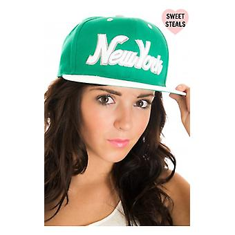 The Fashion Bible New York Snap Back Cap In Green