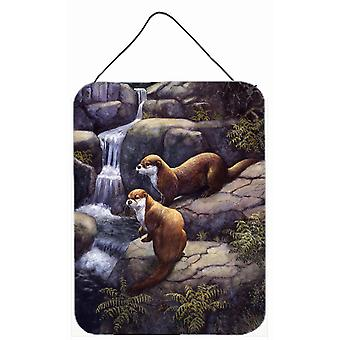 Otters by the Waterfall by Daphne Baxter Wall or Door Hanging Prints