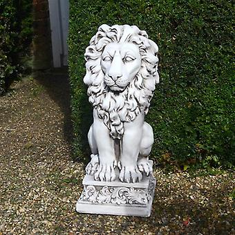 Solstice Sculptures Small Lion Antique Stone Effect Statue