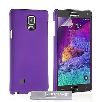 Yousave Zubehör Samsung Galaxy Note 4 harte Hybrid Case - lila