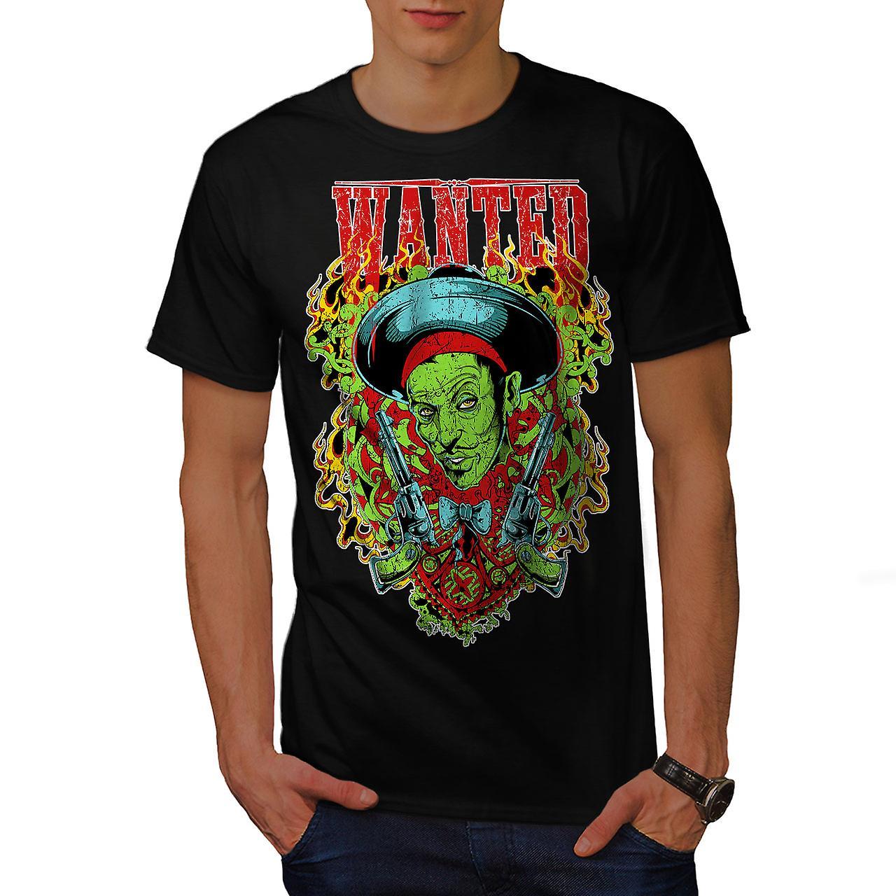 Sombrero Zombie Gangster Men Black T-shirt | Wellcoda