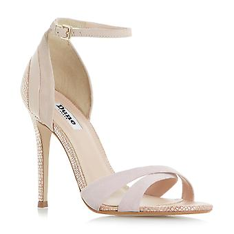 Dune Mesdames MARCY High Heeled Strappy Sandal en or Rose