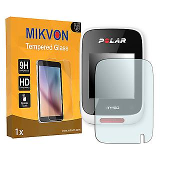 Polar M450 Screen Protector - Mikvon flexible Tempered Glass 9H (Retail Package with accessories)