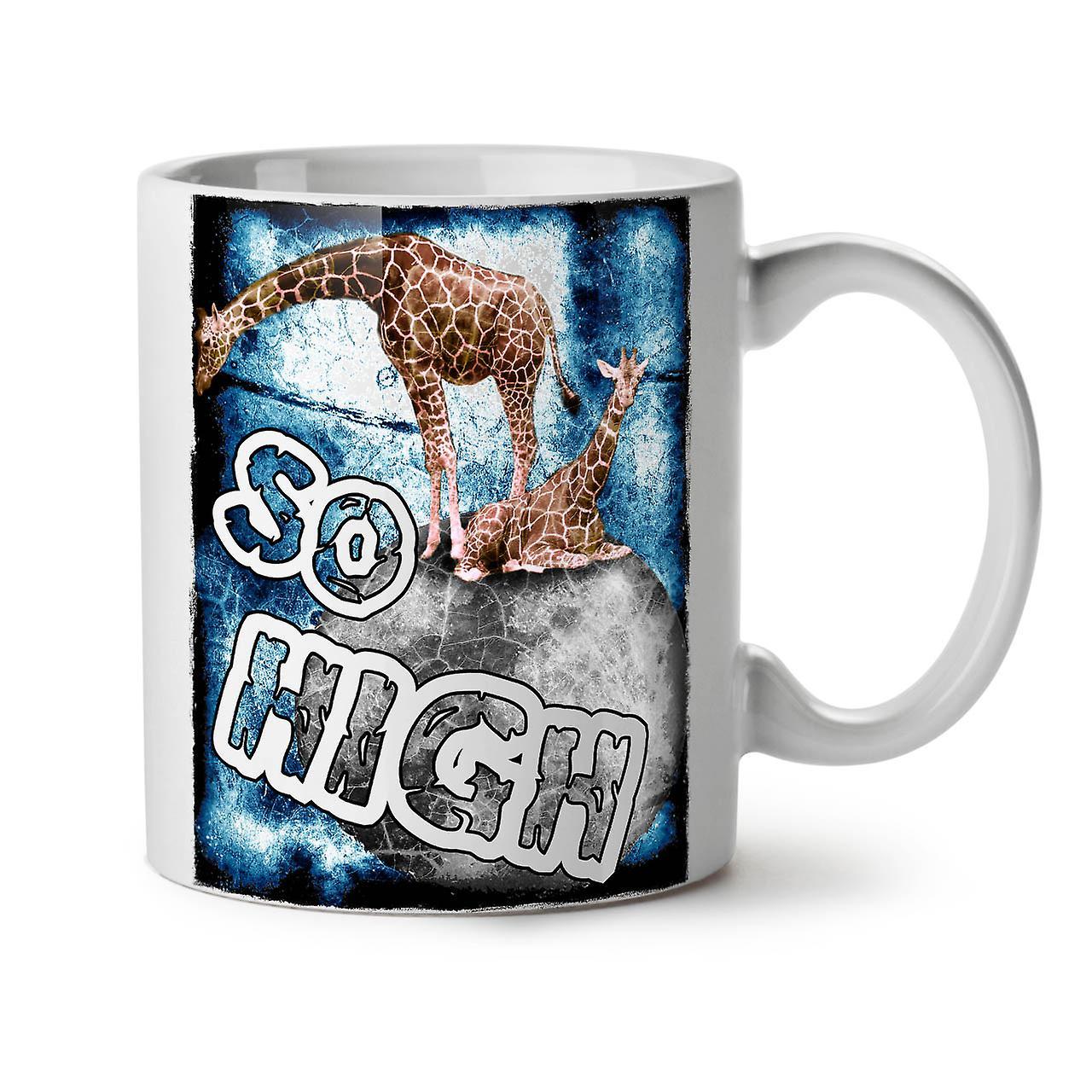 420 New Tea White 11 Coffee Ceramic High OzWellcoda Mug Giraffe Rq4A3cL5j