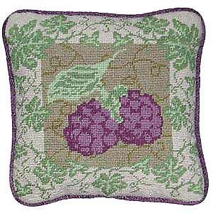 Blackberry Ivy Needlepoint Canvas