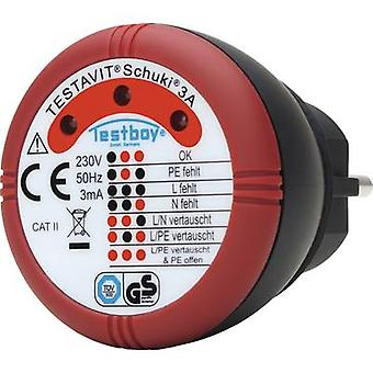 Testboy Schuki® 3A Mains tester Earth contact plug