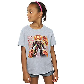 Avengers Girls Infinity War Hulkbuster Blueprint T-Shirt