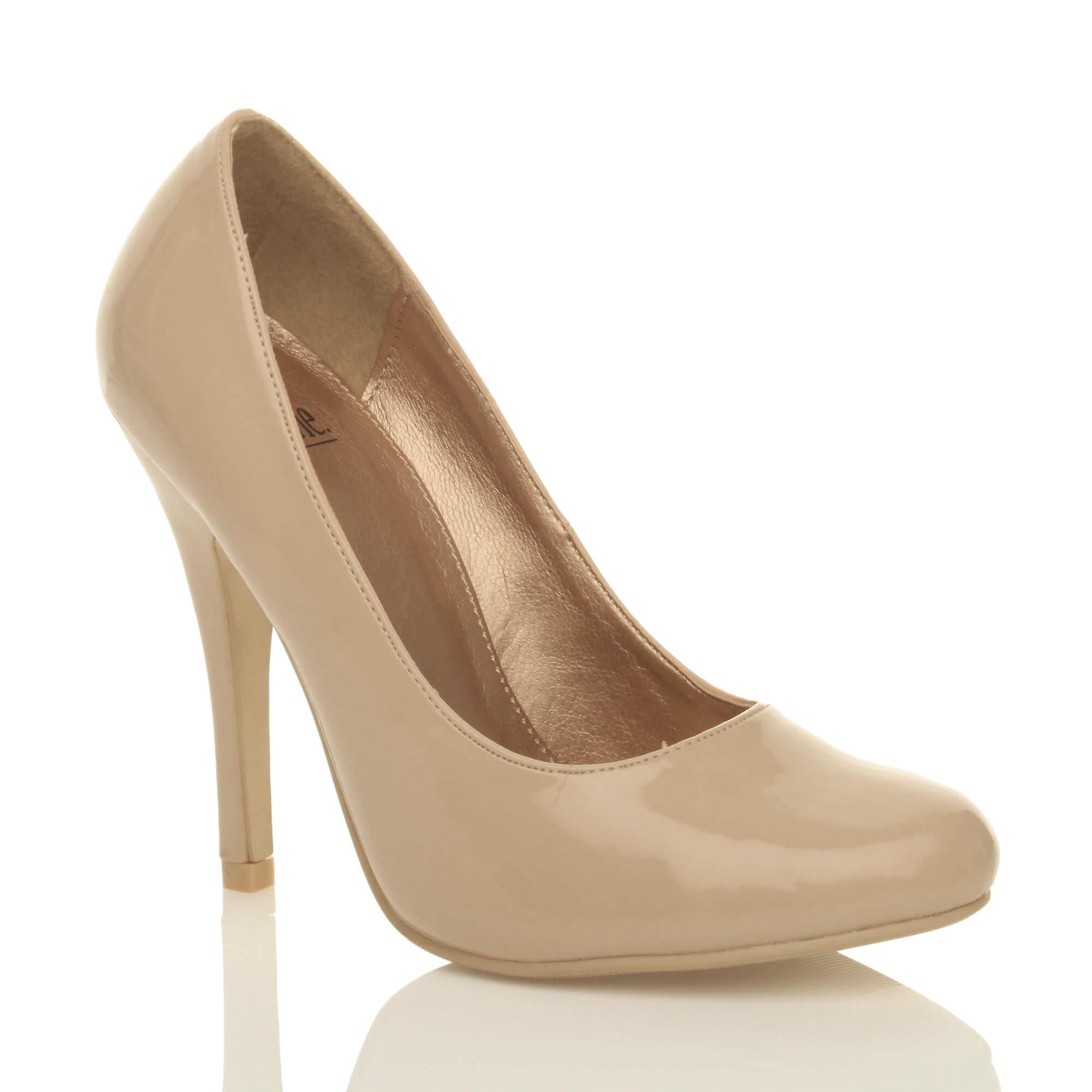 Ajvani womens high heel classic basic work evening court shoes pumps