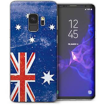 Samsung Galaxy S9 Retro Australia Flag TPU Gel Case – Blue