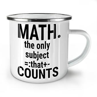 Math Slogan neue WhiteTea Kaffee Emaille Mug10 oz   Wellcoda