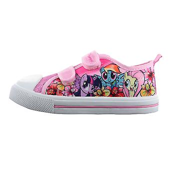 Girls MLP My Little Pony Pink Glitter Hook & Loop Sports Trainers Shoes UK Sizes 6 - 12