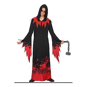 Trajes de los hombres los hombres Halloween traje espíritu con sangre