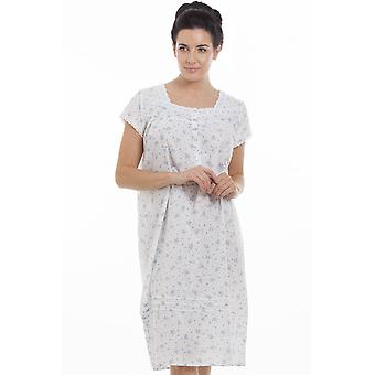 Camille Blue Short Sleeve Floral Nightdress