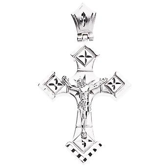 Iced Out Bling DIAMOND CUT pendant - CROSS II silver