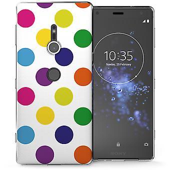 Sony Xperia XZ2 Multi Colour Polka Dot TPU Gel Case