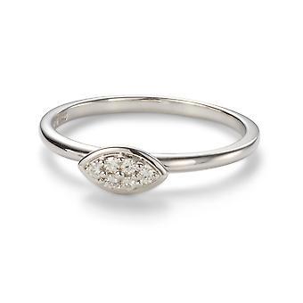 För evigt Classic 1.4mm Moissanite Marquise bana Ring