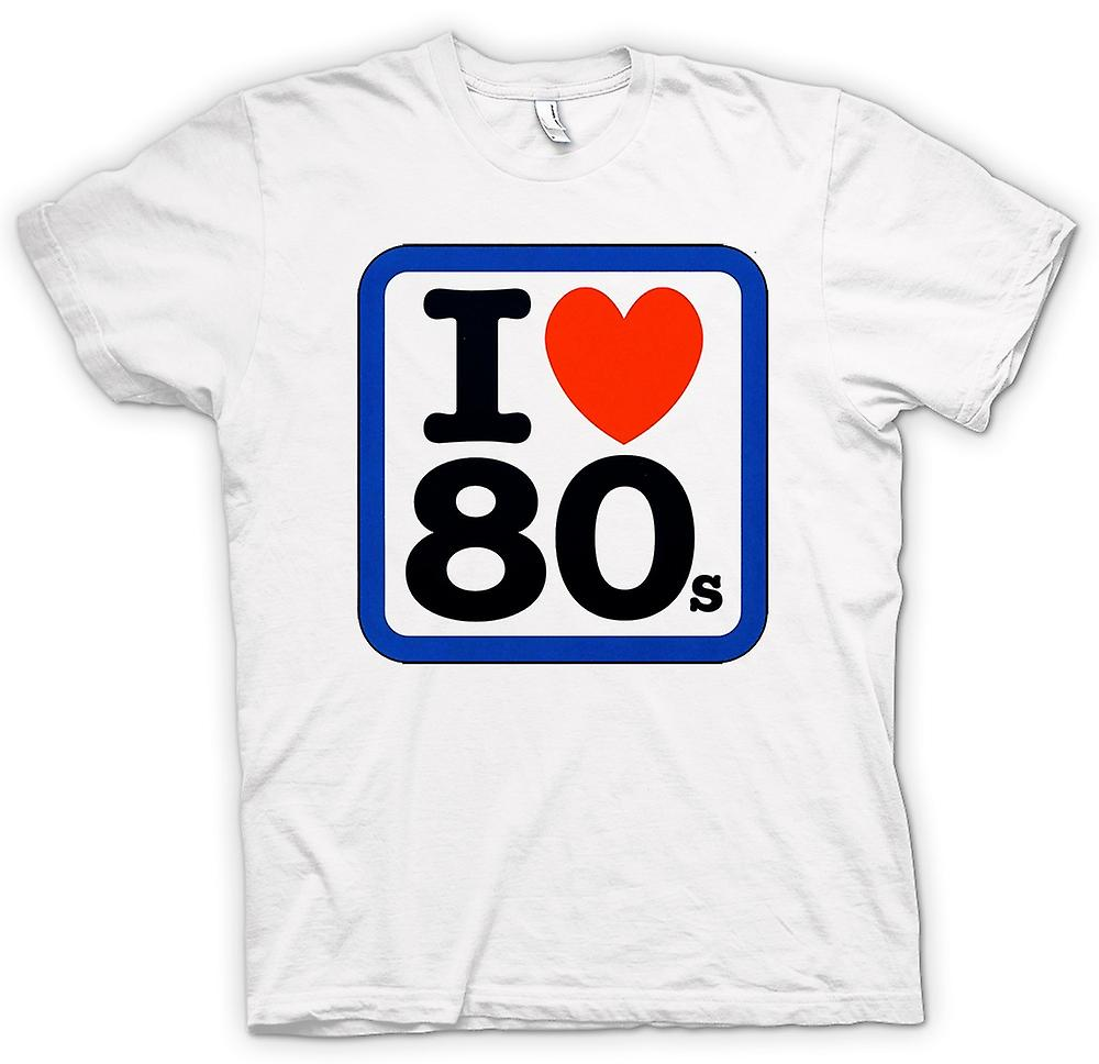 Womens T-shirt - I Love Heart The 80s - Funny