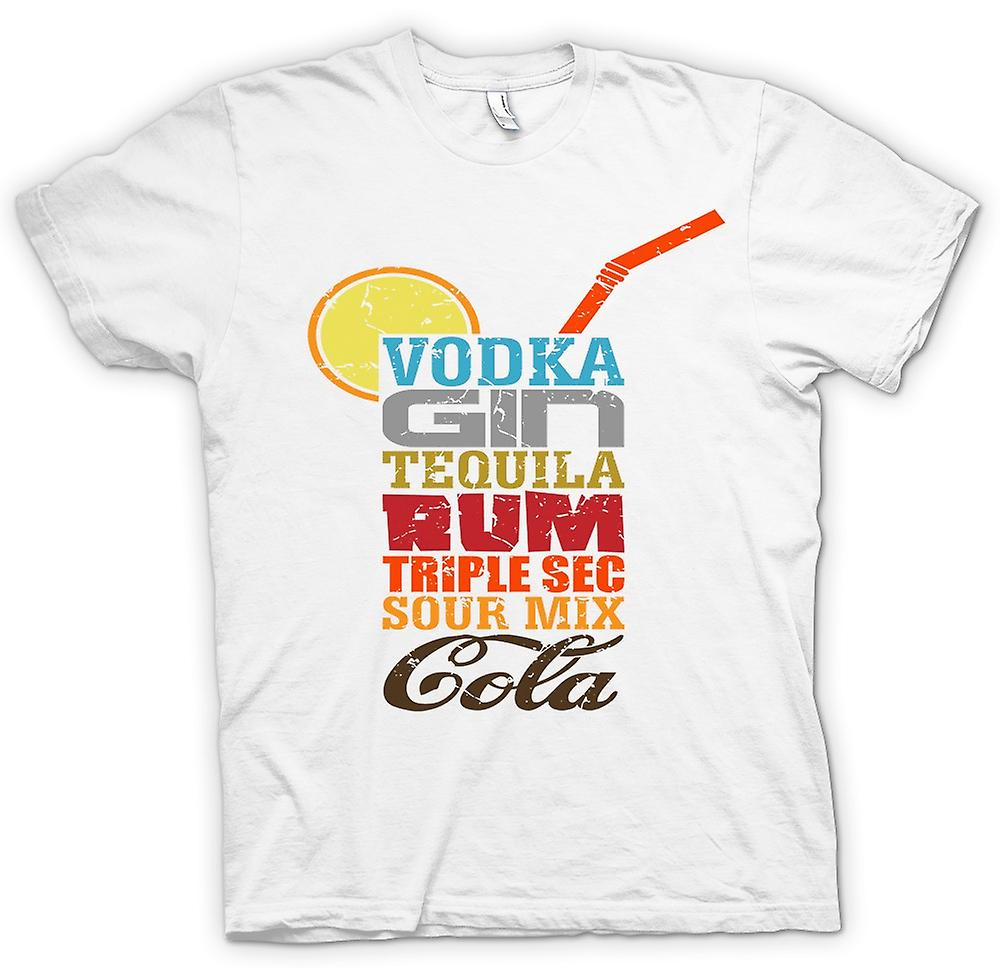 Mens T-shirt - Long Island Iced Tea - Cool