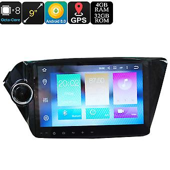 9 Inch 2 DIN Android Media Player - Android 8.0, Octa-Core, 32GB ROM, 3G, 4G, GPS, Google Play, Fits KIA K2 New Rio Cars