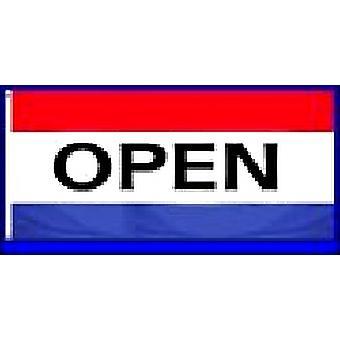 Flag 5ft x 3ft 'OPEN'
