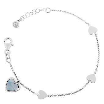 Orphelia Silber 925 Armband Herz Mop ZA-7168