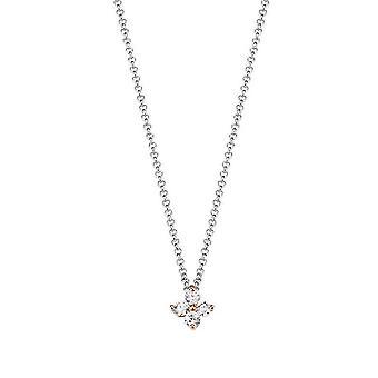 ESPRIT women's chain necklace silver cubic zirconia Elicate blossom ESNL93182A420