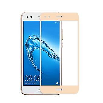 Premium 0.3 mm bent H9 tempered glass gold foil for Huawei Y6 Pro 2017 new
