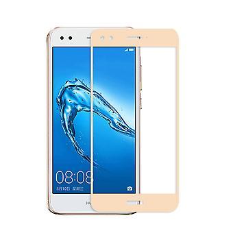 Premium 0,3 mm gebogenes H9 Hartglas Gold Folie für Huawei Y6 Pro 2017 Neu