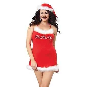 Full Figure Plus Size Holiday Spandex Jersey Chemise Lingerie