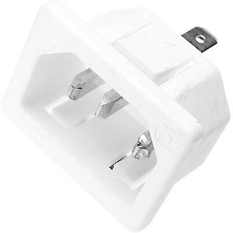 IEC connector 753 Series (mains connectors) 753 Plug, vertical mount Total number of pins: 2 + PE 10 A White Kaiser 753/ws 1 pc(s)