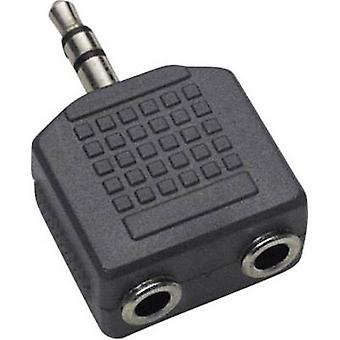 BKL Electronic 1102014 Jack Audio/phono Y adapter [1x Jack plug 3.5 mm - 2x Jack socket 3.5 mm] Black