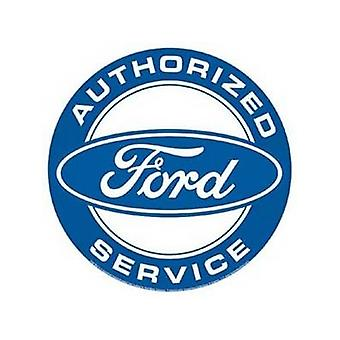 Ford Authorized Service Round Steel Wall Sign
