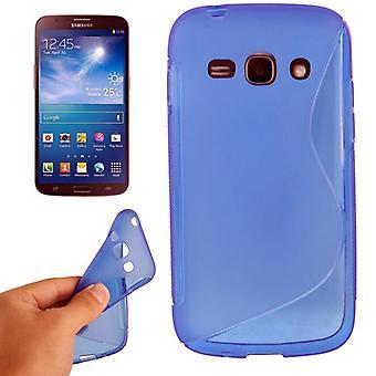 Schutzhülle TPU Case für Handy Samsung Galaxy Ace 3 S7272 blau