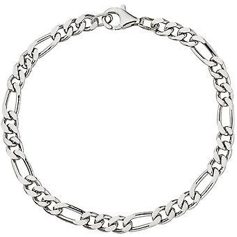 Figaro bracelet 925 sterling silver diamond silver bracelet 21 cm