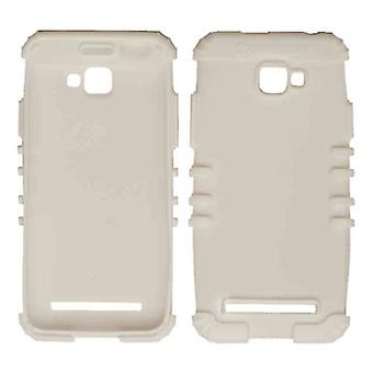 Rocker Series Silicone Skin Protector Case for Blu D410A / Dash 5.0 (White)
