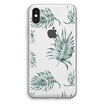 pozostawia proste iPhone przypadku przezroczysty XS (Soft)-