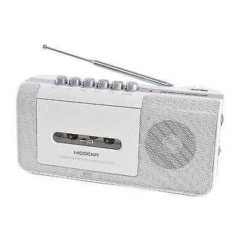 Lloytron N8103WH Modena Portable Radio Cassette Recorder with 2 Band Radio