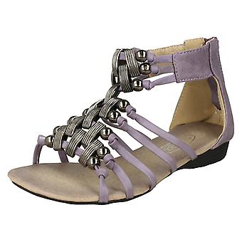 Girls Spot-On Gladiator Style Sandals H1020