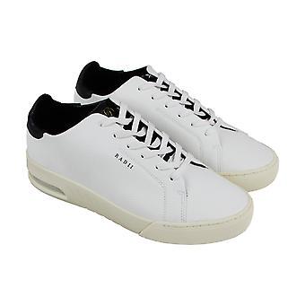 Stralen Square Mens witte lederen Lace Up Sneakers schoenen