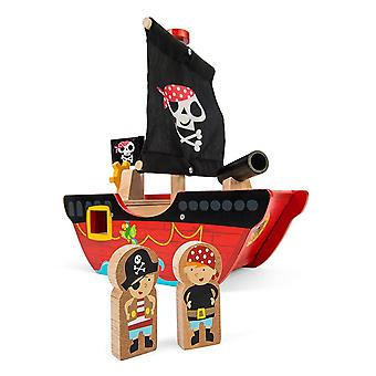 Le Toy Van TV344 Little Captain Pirate Boat Toy