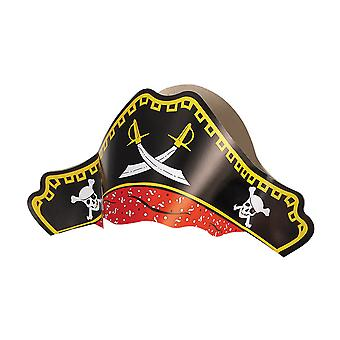 4 Printed Card Pirate Hats for Kids Parties & Crafts | Skull & Crossbones Crafts