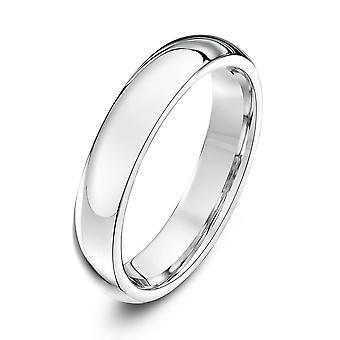Star Wedding Rings 9ct White Gold Heavy Court Shape 4mm Wedding Ring