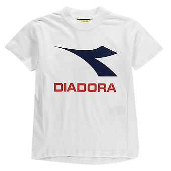 Diadora Kids Auckland T Shirt Short Sleeve Crew Neck Tee Top
