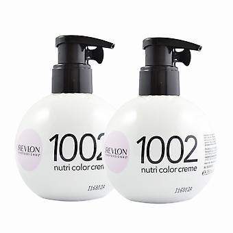 2-pack Revlon Nutri Color Creme 1002 bianco platino ml 270
